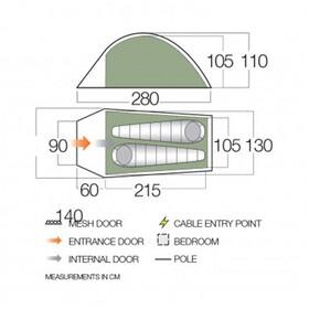 Vango F10 Arête 2 - Tiendas de campaña - verde